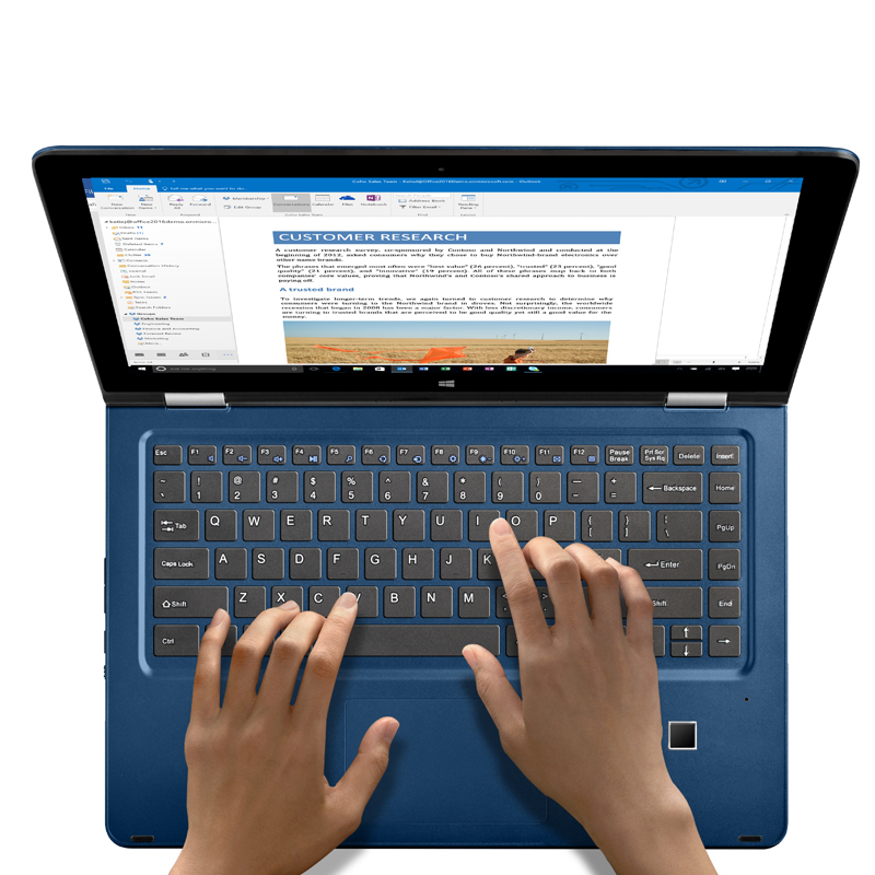 13 3 Fingerprint Recognition Laptop Core i7 6500U Tablet PC Plus Touchscreen 8GB RAM 256GB SSD