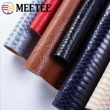 Meetee 50×137 см 1,2 мм Толстая кожаная ткань искусственная синтетическая змеиная кожа ПВХ материал для багажа кошелек ремень DIY аксессуар