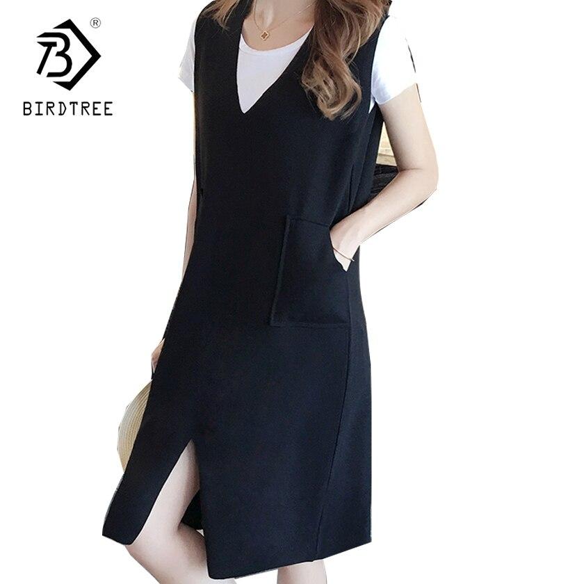 2018 Весна прямо женщина Повседневное Платья для женщин модные по колено пакет Женское платье корейский стиль Горячая плюс Размеры 5xl d82406a