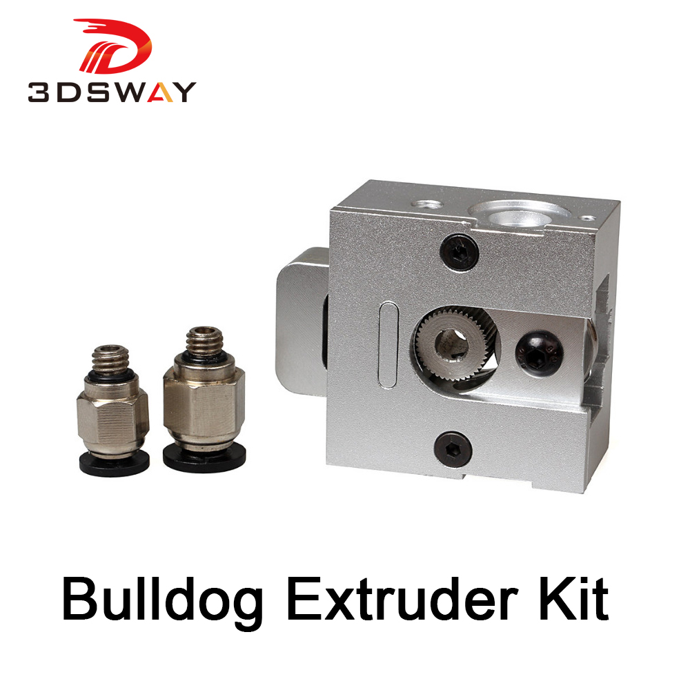 3DSWAY 3D Printer Extruder Kit Aluminium Alloy Extruder 3D J-head MK8 Bulldog Universal Extruder Kit Drive Gear Coupler