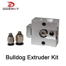 3DSWAY 3D Printer Extruder Kit Aluminium Alloy J-head MK8 Bulldog Universal Drive Gear Coupler