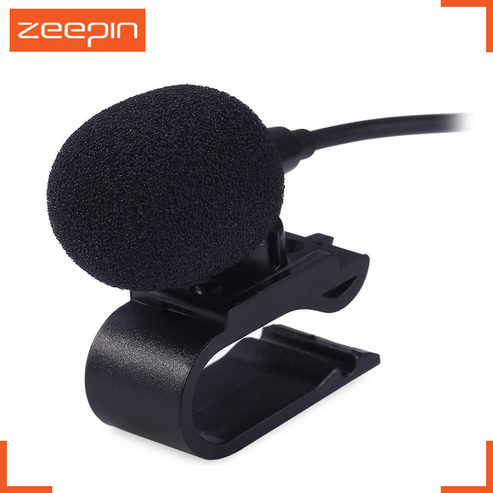 zeepin professionals car audio microphone 3 5mm jack plug mic stereo mini wired external microphone for auto dvd radio 3m long in microphones from consumer  [ 1000 x 1000 Pixel ]