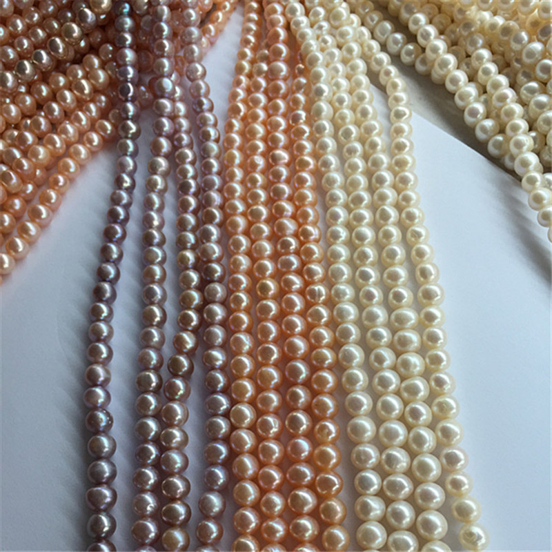 SOUAIME Natural Freshwater Pearl Necklace A2AB 6 7 8 9 10 11mm Round Necklace Pearl Necklace Wholesale in Necklaces from Jewelry Accessories