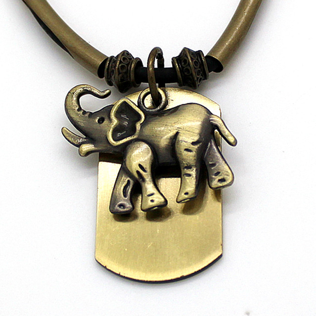 Temperament Design Sweater Chain For Women Necklace Pendant Elephant From India Vintage Jewelry