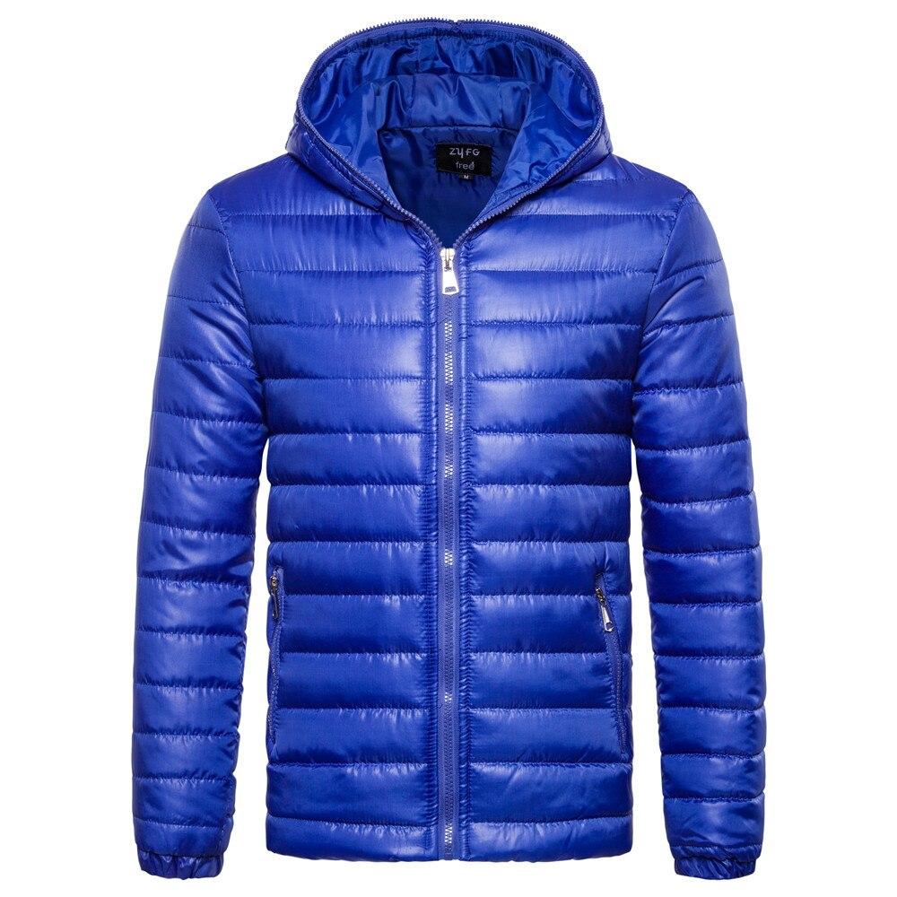 2018 Herbst Winter Warm Outwear Neue Männer Lange Sleeve Zipper Baumwolle Mantel Mit Kapuze Baumwolle Anzug Männer Baumwolle Jacke Unten Jacke