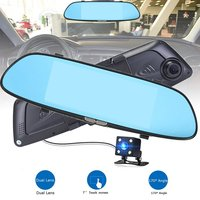 HD 1080P 7 Inch Screen Display Video Recorder G sensor Dash Cam Rearview Mirror Camera DVR Car Driving Recorder