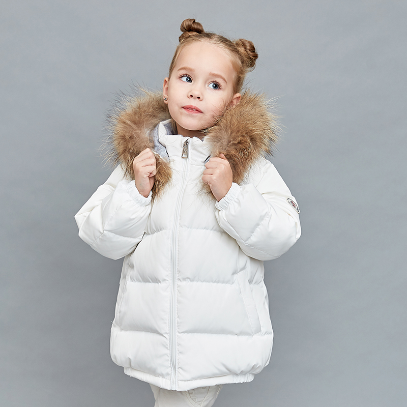 цены на New Year Clothing White Duck Down Jacket Thin Down Jacket Girls Teenagers Down Jacket Children Winter Filling Down Jacket Boy