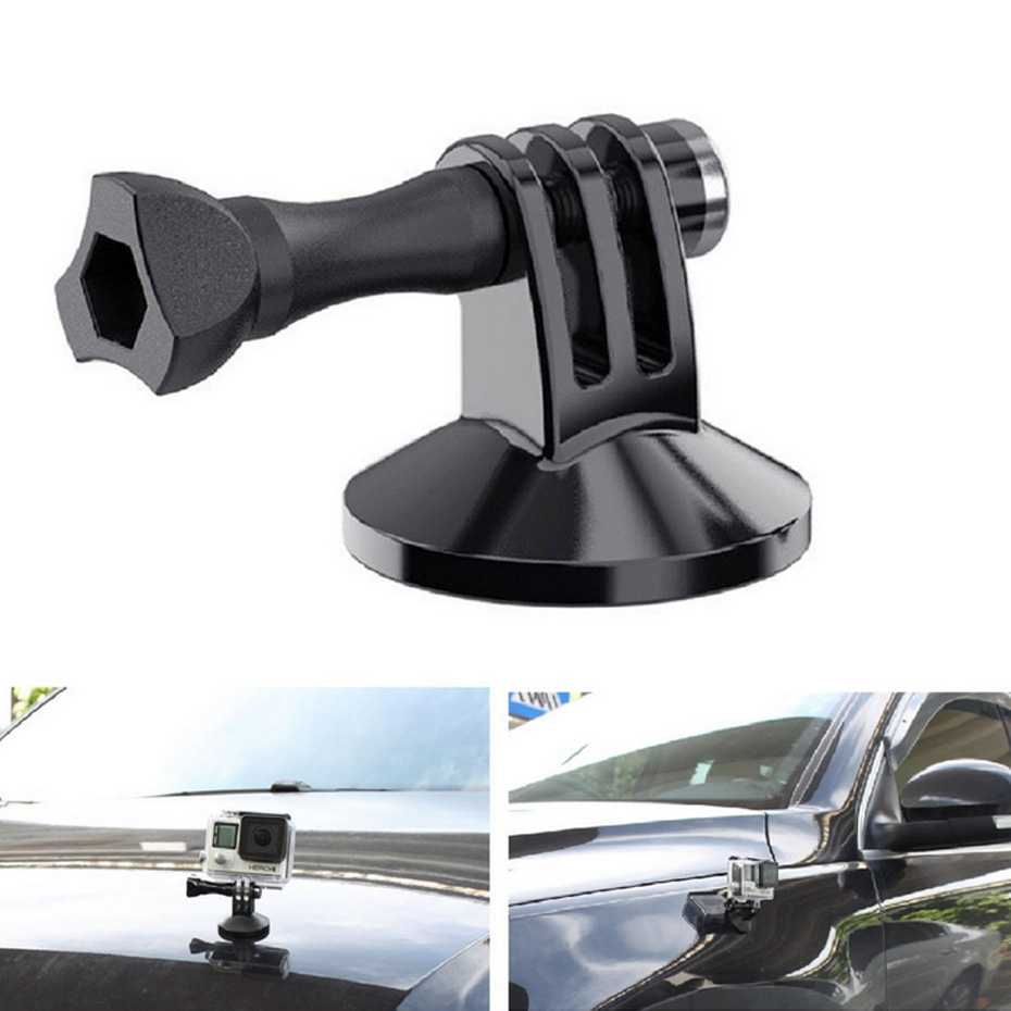 For Gopro Camera Accessory Magnetic Car Suction Cup Tripod Mount Holder Action Camera Accessory