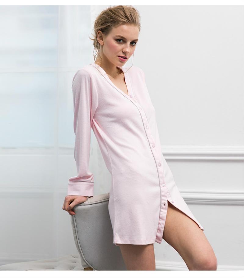 d5051da9e1 Modal Nightdress Supersoft Sleepshirt Womens Winter Elegant Nightgowns For Women  Chemise De Nuit Femme Nachtjapon Sleep-in Nightgowns   Sleepshirts from ...