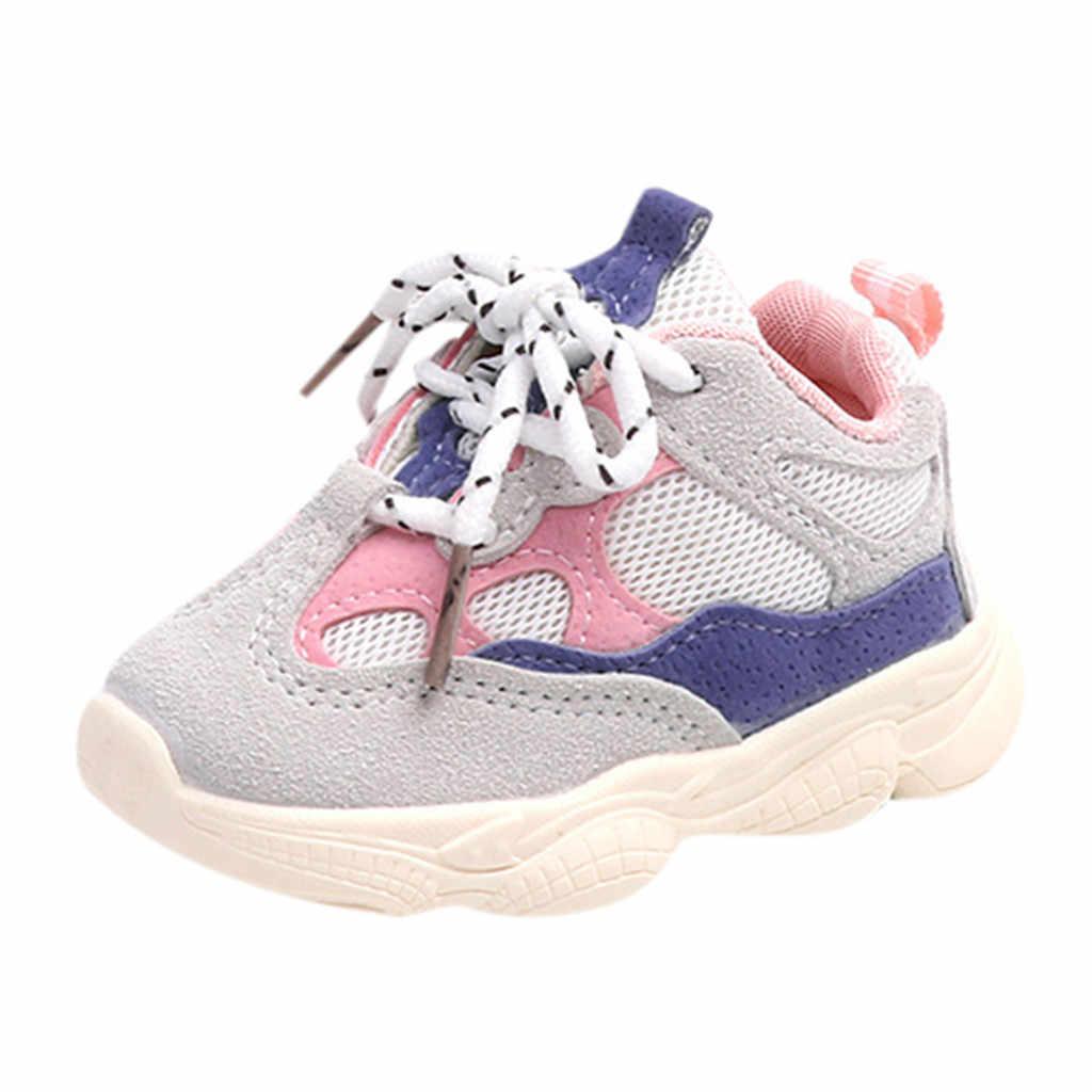 2019 ใหม่เด็กวัยหัดเดินเด็กทารกเด็กผู้หญิงรองเท้าเย็บสีรองเท้าผ้าใบรองเท้าวิ่งกีฬารองเท้า calzado infantil детская обувь # A20