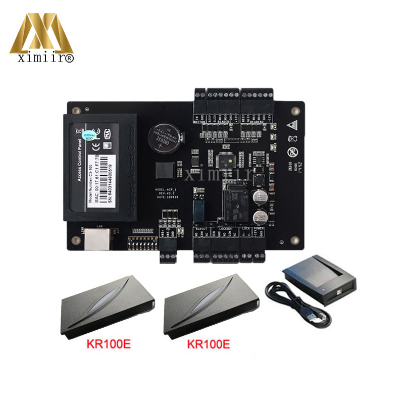 C3-100 Access Control Panel With 125KHZ RFID Card Reader One Door Access Control Board TCP/IP Communication Door Control System