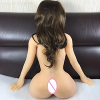 2018 New Japanese Realistic Silicone Sex Dolls For Men Big Breast Masturbation Tpe Real Sized Male Adult Torso Doll Skeleton