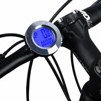 Bike Speedometer and Odometer Wireless Round Shape Waterproof Cycle Computer with LCD Backlight Display Bicycle Computer