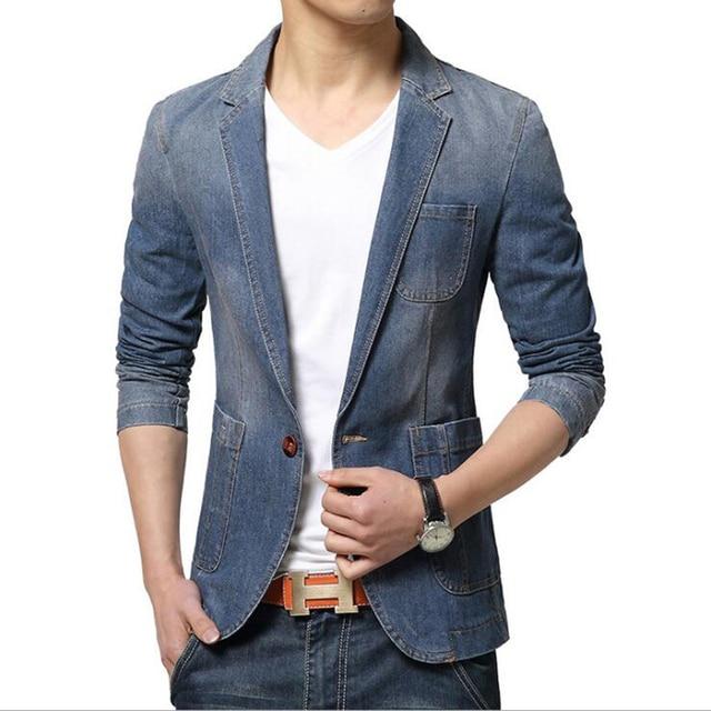 cd2ca04fe34 Nueva manera del mens marca blazer estilo británico casual traje slim fit  chaqueta masculina Blazers otoño