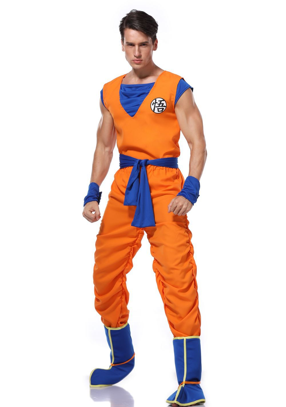 Dragon Ball Z Goku Costume Suit Son Cosplay Costumes For Adult Boys Girl Kid Child Wig Clothes Set Fancy Halloween