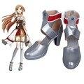 Nueva Hollow Realización Espada de Arte En Línea Asuna cosplay zapatos Anime botas Sandalia de Verano Por Encargo