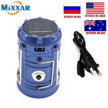 C Mixxar 6 LEDs Portable Travel Solar Charger Lantern Emergency Camping Lanterns Waterproof Rechargeable Hand Light Lamp