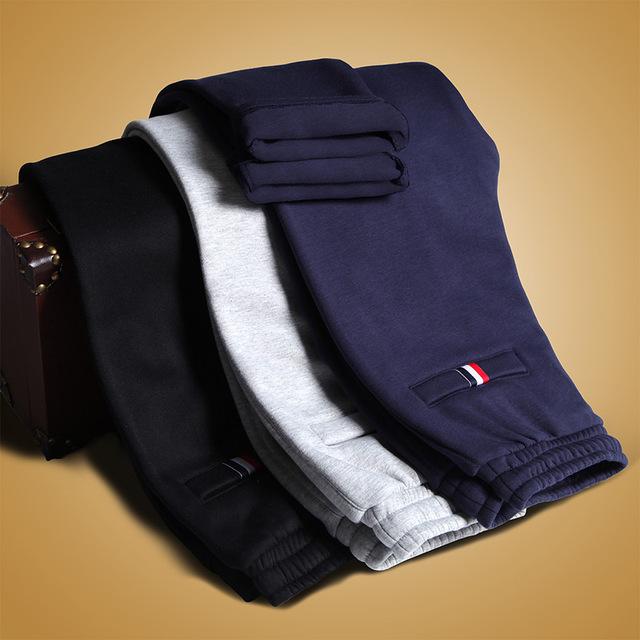 2016 nueva mens de la manera del todo-fósforo juventud Coreana suelto recto pantalones de algodón Wei cómodo pantalones del ocio delgado caliente