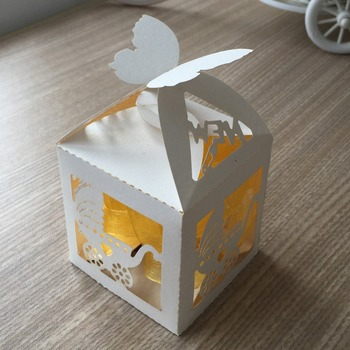 100Pcs baptism baby shower mini size Paper Baby Carriage Candy Box Birthday Party Supplies Decorations Favors paper box Bag Gift