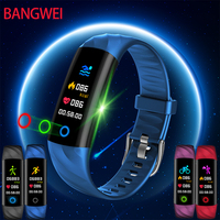 BANGWEI Fitness Smart Watch IP68 Waterproof Blood Pressure Heart Rate Monitoring Mountaineering Sport Watch For Android iOS+Box
