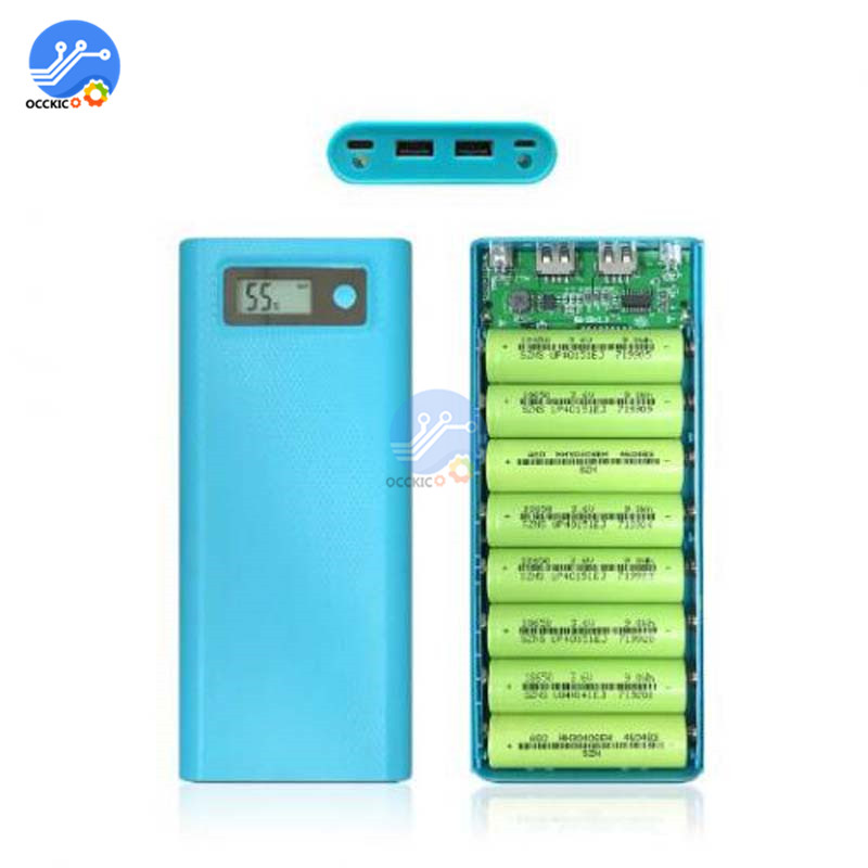 Image 2 - 8x18650 Battery Charger Box Power Bank Holder Case Dual USB LCD Digital Display 8*18650 Battery Shell Storage Organize DIY-in Battery Storage Boxes from Consumer Electronics
