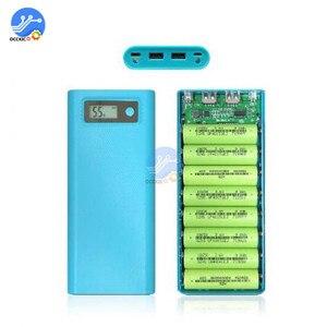 Image 2 - 8x18650 Caixa de Banco Do Poder Carregador de Bateria Caso o Titular Dupla USB LCD Display Digital 8*18650 Bateria Casca organizar caixa de armazenamento DIY
