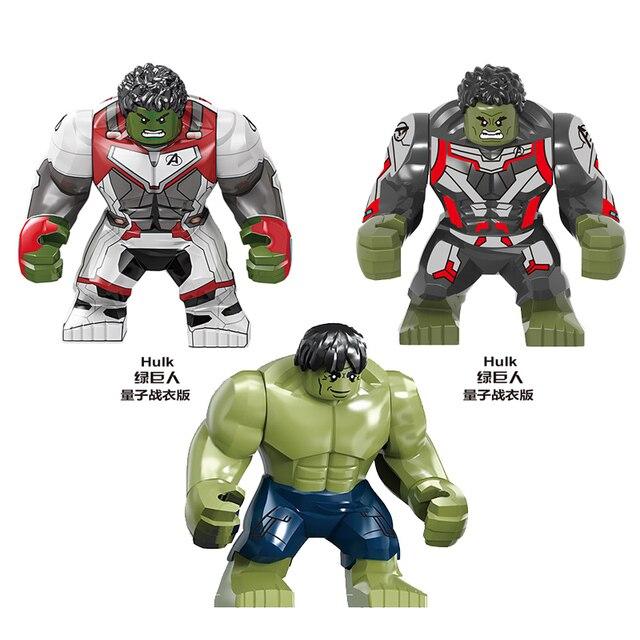 KF6076 SY1313 4 Espaço Jogo de Final de Super-heróis Vingadores MINI Micro Máquina de Guerra Figuras Hulk Legoings Brinquedos de Blocos de Construção Compatíveis