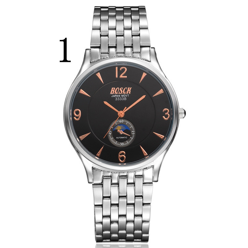 ajdsscl Watch men automatic mechanical watch casual steel