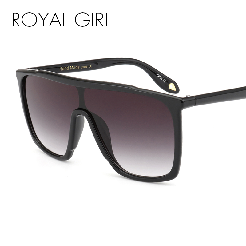 ROYAL GIRL 2019 New Women Sunglasses Fashion Vintage Unique Oversized Sun Glasses Shades Gradient For Female UV400 ss209