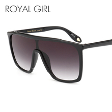 ROYAL GIRL 2017 New Women Sunglasses Fashion Vintage Unique Oversized Sun Glasses Shades Gradient For Female Oculos UV400 ss209