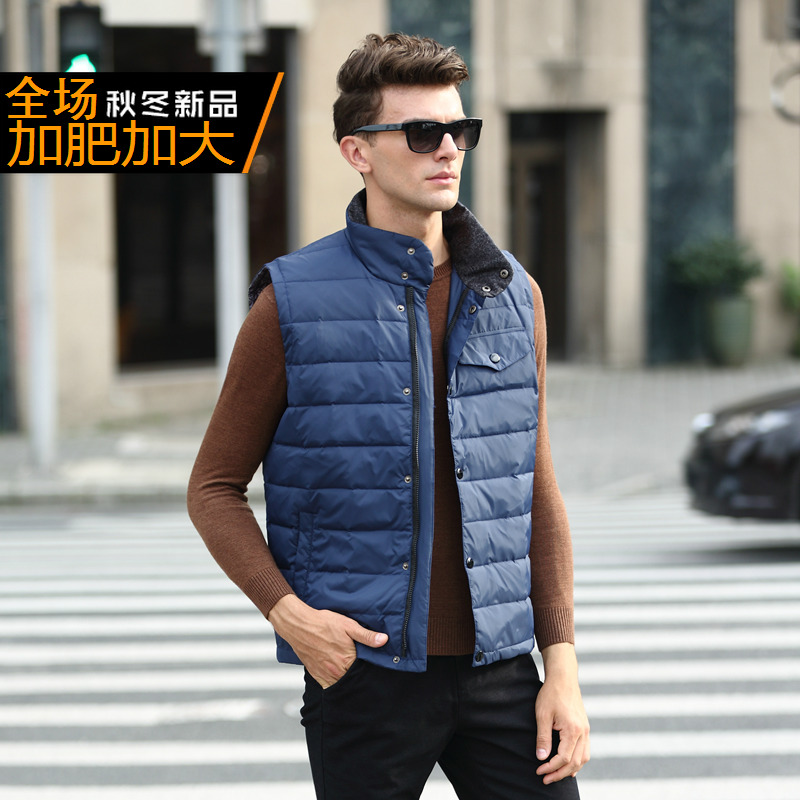 Apprehensive New Arrival Men's Fashion Obese Thermal Casual Outerwear Down Vest Plus Size Xl- 4xl5xl 6xl 7xl 8xl 9xl 10xl 11xl 12xl 13xl Elegant Appearance