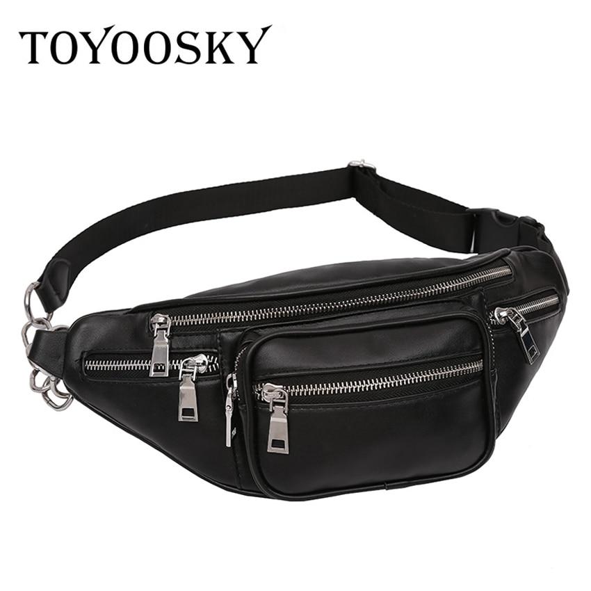 TOYOOSKY Crossbody Bags for Women PU Leather Military Shoulder Chest Bag Large Capacity Ladies Handbag Zipper Fanny Waist Pack цена