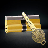 Door Control Hardware Lock Cylinder AB Key Anti Theft Pure Brass Door Lock Lengthened Core Extended Customization 80mm