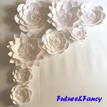 8pcs set giant paper flowers for wedding backdrops bridal shower baby shower party decor flower centerpiece