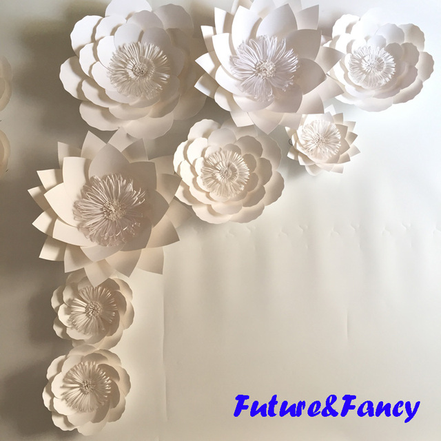 This year i created these super easy tissue paper flower 8pcs set giant paper flowers for wedding backdrops bridal shower baby shower party decor flower centerpiece mightylinksfo