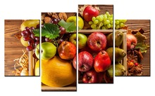 4 Panels paintings for the kitchen fruit wall decor modern canvas art picture living room descorative pictures