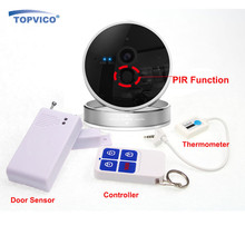1080P Wireless Alarm WIFI IP Camera with Motion Sensor + 433mhz Door Sensor + Wireless Remote Controller ONVIF P2P Plug Play Cam