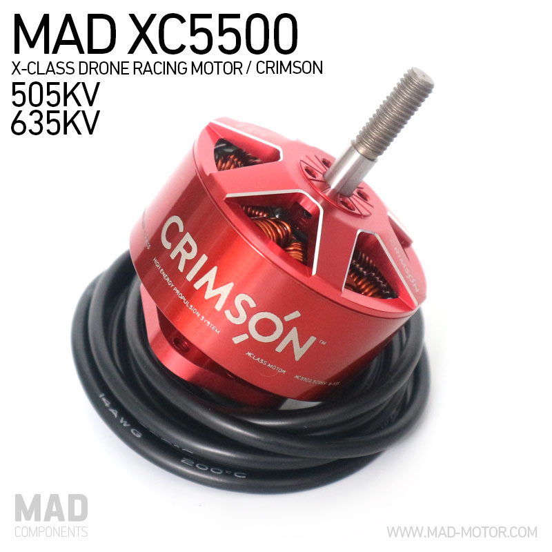 MAD Crimson XC5500 XClass Drone Racing Brushless Motors 6 10S for DIY Rigs Quadcopter Hexacopter Fit