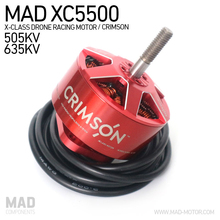 MAD Crimson XC5500 XClass Drone Racing Brushless Motors 6-10S for DIY Rigs Quadcopter Hexacopter Fit Airscrew 3 Blade Propeller