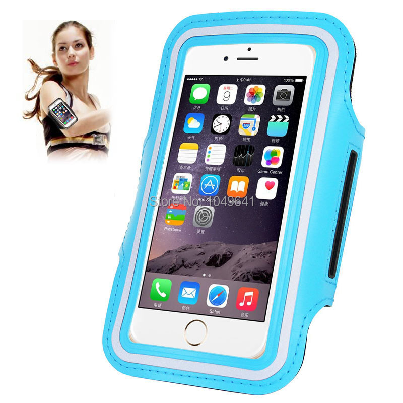 KIP6-1322_1_Sport Armband Case with Earphone Hole & Key Pocket for iPhone 6 & 6S  HUAWEI Y3 II  ZTE Blade GF3  and Less than 4.7 inch Mobile Phone