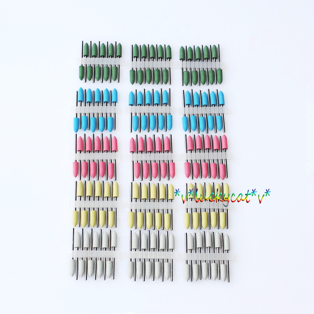 120Pcs Dental Mixed SILICONE Polishers Polishing Burs цены