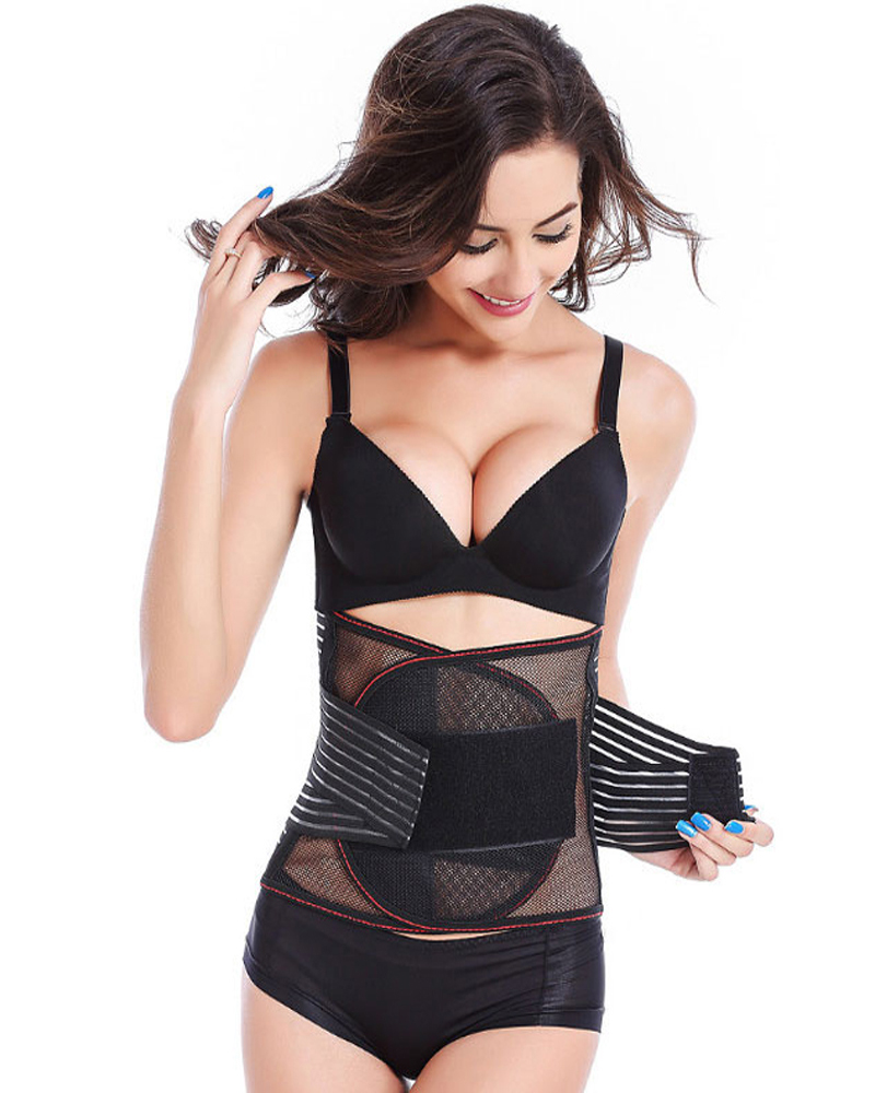 Waist Support Lumbar Corset Belt Back Braces Breathable Treatment of Disc Herniation Lumber Muscle Strain Black Skin Color in Braces Supports from Beauty Health