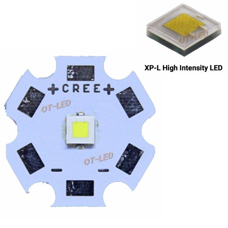 Original CREE XPL XP-L HI V6 1A led 10W 6500K LED Emitter XP-L HI 3535 led chip Cool White High Power LED lamp 1100LM 2pcs cree xpl hi led 10w v6 1a 6000k led emitter xp l hi 3535 led chip cool white high power led lamp with 20 16 14 12 8mm pcb