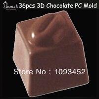 Spedizione gratuita 2x2x1. 9 cm * 36 tazze di caffè di fagioli cioccolato in policarbonato trasparente di plastica, diy strumenti fatti a mano di qualità