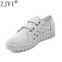 ZJVI Women Round Toe Loafers Summer Cut Outs Shoes 2108 Woman Flats Womens Casual Shoes Ladies