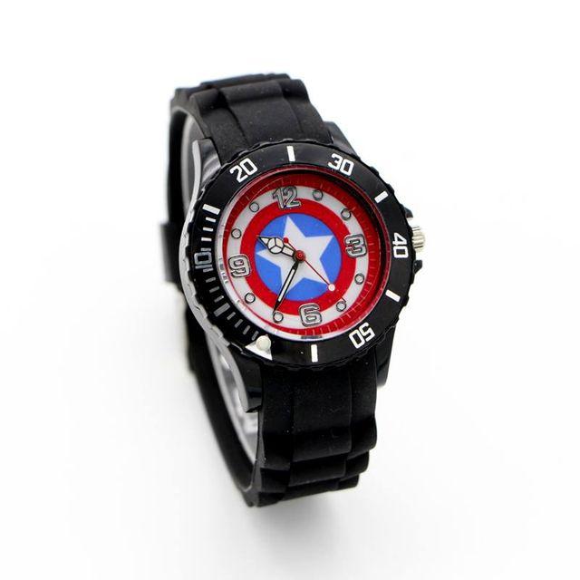 The Avenger cartoon Captain America Shield kids lady watch fashion casual digita
