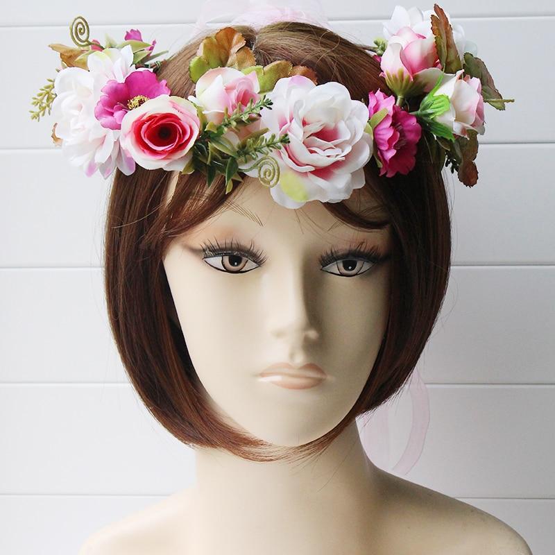 simulation penny flower wreath headband women Rattan simulation - Apparel Accessories - Photo 6