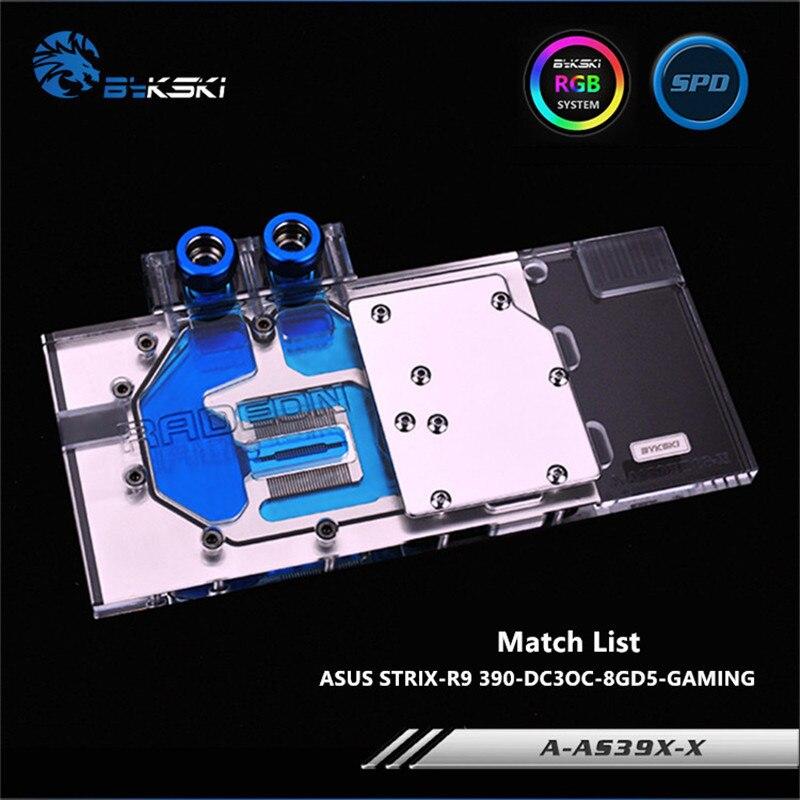 Bykski couverture complète GPU bloc d'eau pour ASUS 390 STRIX R9 390X carte graphique A AS39XDC3 X-in Ventilateurs et refroidissement from Ordinateur et bureautique on AliExpress - 11.11_Double 11_Singles' Day 1