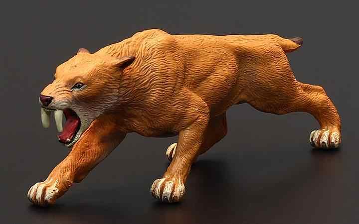 15 cm Paleontologia Smilodon saber-toothed tiger Animais Figura Brinquedos Clássicos Para Crianças Meninos