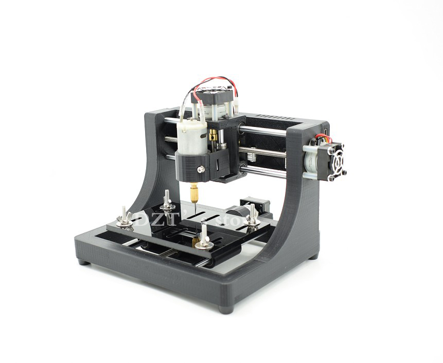 JEDI CNC1208 super mini hobby Machine 3 Axis Pcb Milling machine,mini Wood Router for learning & study best toy Assembled mini cnc router machine 2030 cnc milling machine with 4axis for pcb wood parallel port